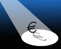 Euro in riflettore illustrazione vettoriale