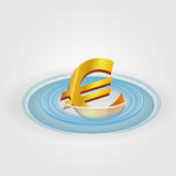 Euro Ripple Currency Stock Photography