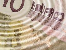 Euro ripples Royalty Free Stock Photography