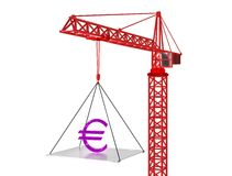 Euro rise up. 3d render. Stock Photos