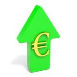 Euro rising arrow. Stock Photography