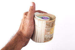 Euro Roll Royalty Free Stock Photo