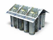 5 euro rollende bankbiljetten vector illustratie