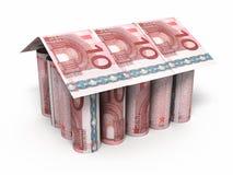 10 euro rollende bankbiljetten Royalty-vrije Stock Foto