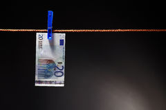Euro On Rope Royalty Free Stock Images