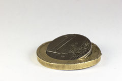 Euro rotto Immagine Stock Libera da Diritti