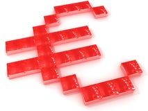 euro rouge Images libres de droits