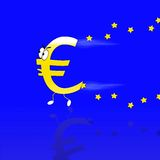 Euro running. Royalty Free Stock Photo
