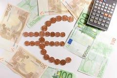Euro- símbolo Foto de Stock Royalty Free