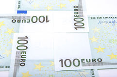 Euro 100's bank notes Stock Image