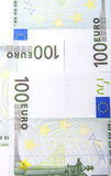 Euro 100's bank notes Royalty Free Stock Image