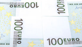 Euro 100's banknoty Obrazy Royalty Free