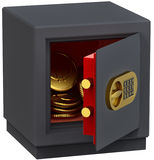 Euro in the safe Royalty Free Stock Image