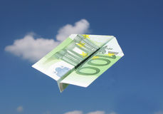 EURO samolot Zdjęcia Stock