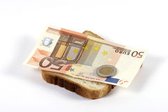 Euro sandwich Royalty Free Stock Images