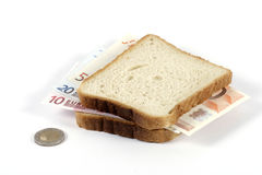 Euro sandwich Royalty Free Stock Photography