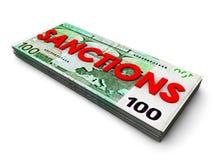 Euro-sanzioni Immagine Stock Libera da Diritti