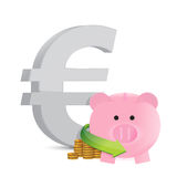 Euro savings profits illustration design Royalty Free Stock Photo
