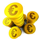 Euro Savings Shows Euros Saved And European. Euro Savings Meaning Financing European And Currency vector illustration