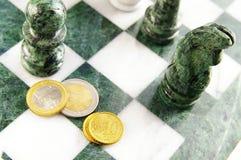 Euro scacchi Fotografie Stock Libere da Diritti