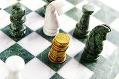 Euro scacchi Immagine Stock