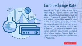 Euro scambio Rate Conceptual Banner Fotografia Stock