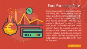 Euro scambio Rate Conceptual Banner Immagine Stock Libera da Diritti