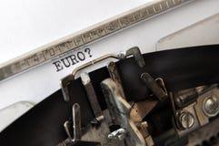 EURO scepticism Stock Image