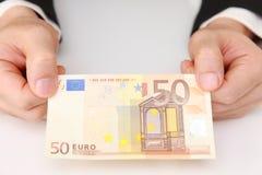 50-Euro - Schein Stockfotos