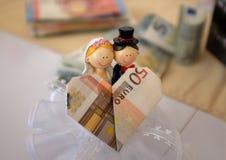 50-Euro - Schein (Herz-förmig) Lizenzfreie Stockfotografie
