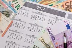 100 200 500-Euro - Scheine Stockbilder