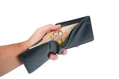 50-Euro - Scheine in einem Aktenkoffer Lizenzfreies Stockfoto