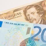 Euro - schilling - améliorez avant ou après Photographie stock