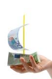 Euro schip Stock Foto's