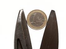 Euro- scissors2 imagens de stock