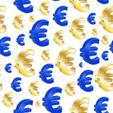 Euro seamless pattern Stock Photography