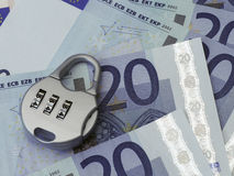 Euro security concept Royalty Free Stock Images
