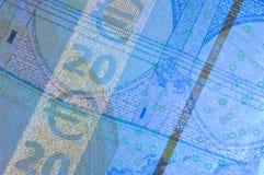 Euro security features Royalty Free Stock Photos