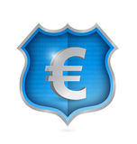 Euro security shield illustration design Stock Image