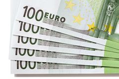 Euro 100 sedlar Arkivbilder