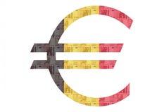 Euro segno belga Fotografia Stock Libera da Diritti