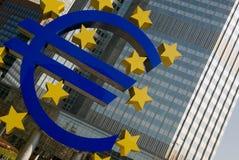 Euro segno, Francoforte Immagine Stock