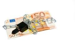 Euro- segurança do dinheiro Fotos de Stock