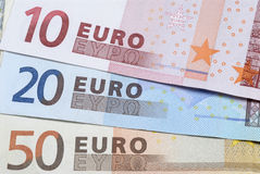 Euros currency money close up Stock Photography