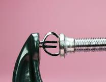 Euro serrez vers le bas Photographie stock