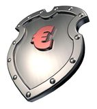 Euro shield Stock Photo