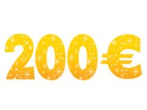 200 Euro sign icon symbol Royalty Free Stock Images