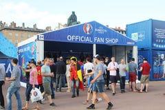 Euro 2016 shoppar Arkivfoto