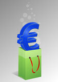 Euro shopper Stock Photography