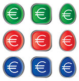 Euro sign. Illustration of euro sign on white background Stock Images